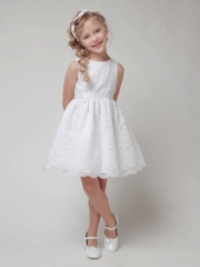 White Lace Dress with Optional Satin Sash
