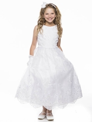 Pearl Sequin Embroidered Communion Dress