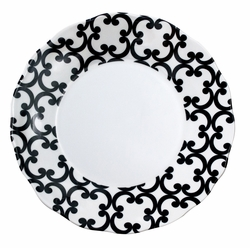 Black and White Scroll Plates