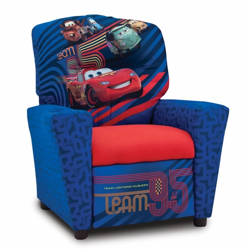 Disney Cars 2 Recliner Chair For Kids With Cup Holder