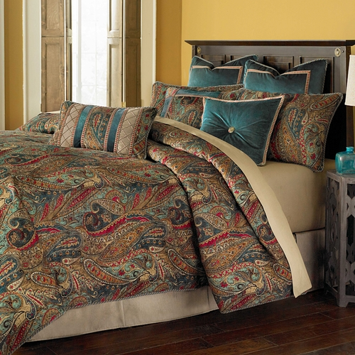 seville luxury bedding set a michael amini bedding collection. Luxury Comforter Sets  Save 25 12pc Glendale Yellowgrey Luxury