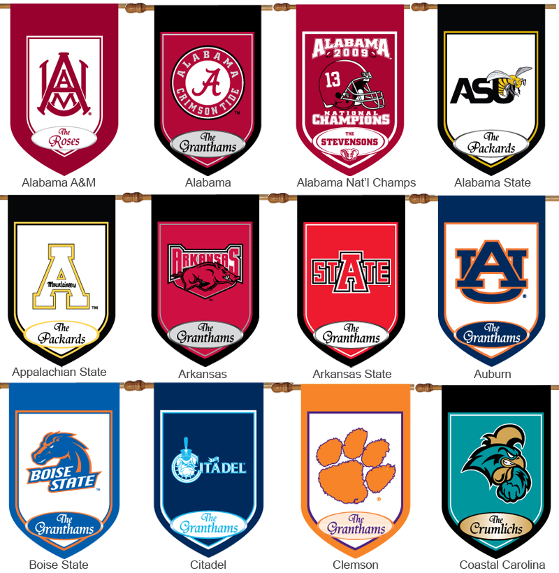 Personalized College Garden Flags Monogrammed Collegiate Garden