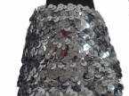Onesole Silver Sequin Clog Top