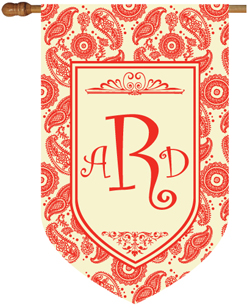 Paisley Monogrammed House Flags