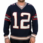 #12 New England Football Sweater