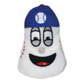"4 Inch Plush White Baseball Beantown Bean ""Pitch"" Mini"