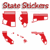 Baseball State Stickers