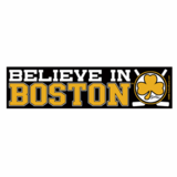 Believe In Boston ''Black & Gold'' Bumper Sticker (3 x 12)