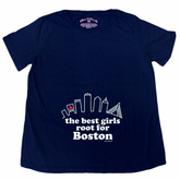 Best Girls Root For Boston Maternity T-Shirt