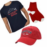 Best Moms Root For Boston Gift Set (T-Shirt, Socks, Cap)