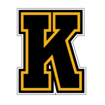Black & Gold Letter Stickers (K)