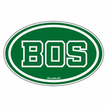 BOS Boston Sticker Green