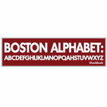 Boston Alphabet Sticker