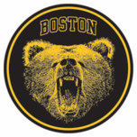 Boston Bear Puck Sticker