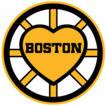 Boston Black and Gold Heart Sticker