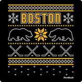Boston Black & Gold Holiday Sweater T-Shirt