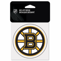 Boston Bruins 4x4 Die Cut Sticker