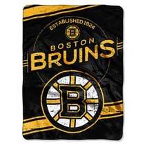 Boston Bruins Blanket BIG 60x80 Super Plush Throw