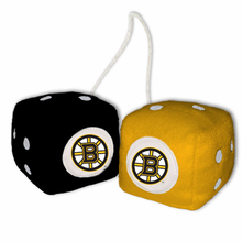 Boston Bruins Fuzzy Dice