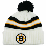 Boston Bruins White Knit Winter Hat