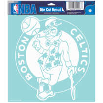 Boston Celtics 8x8 Die Cut  Window Sticker