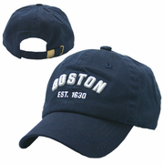 Boston Dark Navy Washed Youth Adjustable Cap