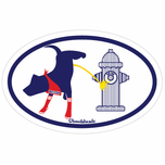 Boston Dog New York Hydrant Oval Sticker