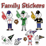 Boston Family Stickers
