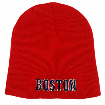 Boston Knit Winter Hat (Red)
