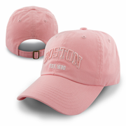 Boston Pink Washed Adjustable Cap (Pink/White Logo)