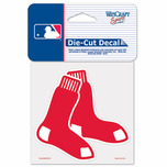 Boston Red Sox 4x4 Double Sox Die Cut Sticker