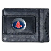 Boston Red Sox Leather Money Clip and Card Holder