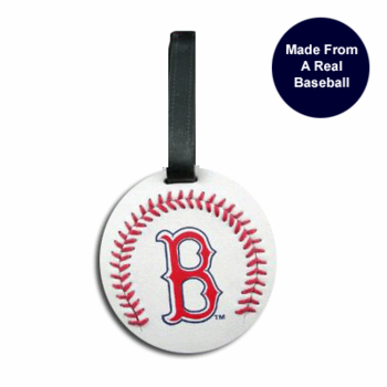 Boston Red Sox Luggage Tag (Real Baseball Material)