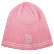 Boston Red Sox Pink Beanie Winter Hat