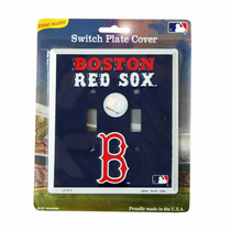 Boston Red Sox Switch Plate Cover Double Light