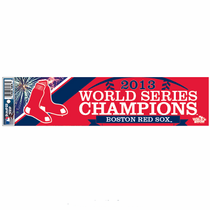Boston Red Sox World Series Champs 3x12 Bumper Sticker