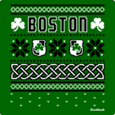 Boston Shamrocking Holiday Sweater T-Shirt