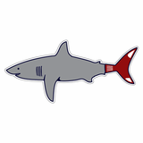 Boston Shark Sticker