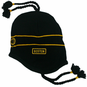Boston Sherpa Ski Hat - Black & Gold