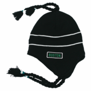 Boston Sherpa Ski Hat - Black & Green