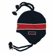 Boston Sherpa Ski Hat - Navy & Red