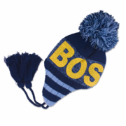 Boston Ski Hat Navy/LtBlue