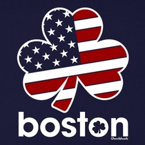 Boston Stars And Stripes Shamrock T-Shirt