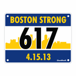 Boston Strong Runners Bib Sticker