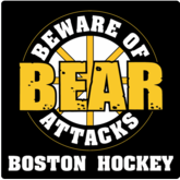 Boston T-Shirt / Sweatshirt- Beware Of Bear Attacks Boston Hockey