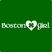 Boston T-Shirt /Sweatshirt-  Boston Girl Clover Design