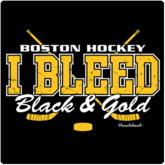 Boston T-Shirt / Sweatshirt I Bleed Black & Gold Boston Hockey