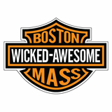 Boston Wicked Awesome Sticker