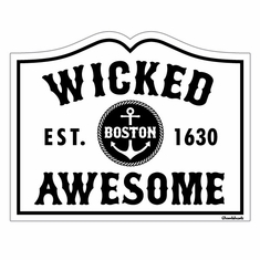 Boston Est. Wicked Awesome Sticker