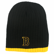 "Boston Winter Beanie - Black & Gold ""B"""